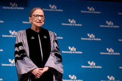 Ruth Bade Ginsburg sufría de un cáncer pancreático y falleció a los 87 años (REUTERS/Lindsay DeDario)