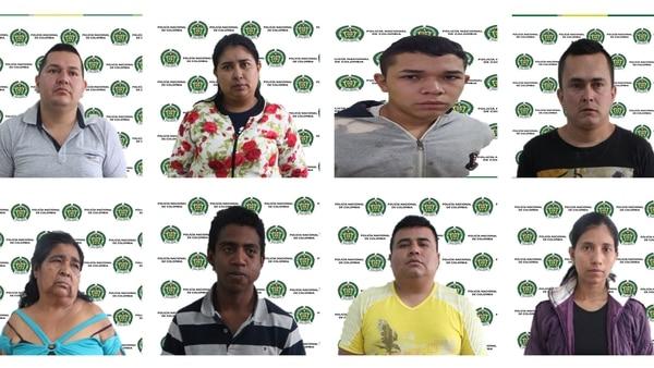 Estos son los integrantes de la banda 'Los Cholos', que fueron capturados.