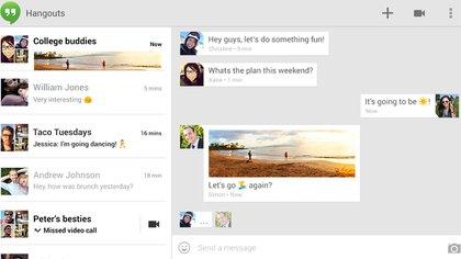 Las conversaciones de Hangouts se migrarán a Chat (Foto: Archivo)