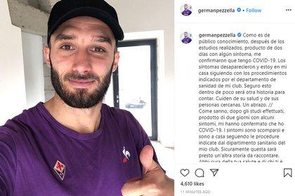El posteo de Germán Pezzella (@germanpezzella)