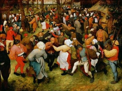 """""""Baile de casamiento"""" (1568), de Pieter Brueghel el Viejo, en Museo de Historia del Arte de Viena"""