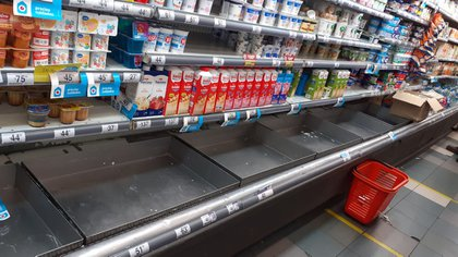 Por el conflicto lácteo faltaron días atrás productos lácteos