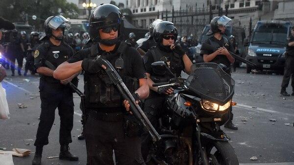 Durante el operativo del pasado jueves, a cargo de Patricia Bullrich, actuaron la Policía Federal y Gendarmería (Nicolás Stulberg)