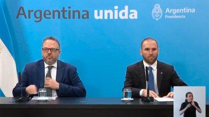 Martín Guzmán y Matías Kulfas, ministro de Producción (archivo)
