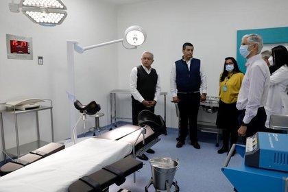 Alfredo del Maso inaugura la Maternidad López Obrador Texaco en compañía del Gobernador de México (Foto: Twitter @ Alfredo Telmaso)