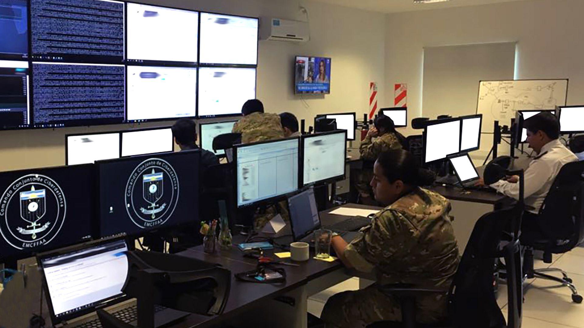Las instalaciones del Comando Conjunto de Ciberdefensa (Archivo DEF)