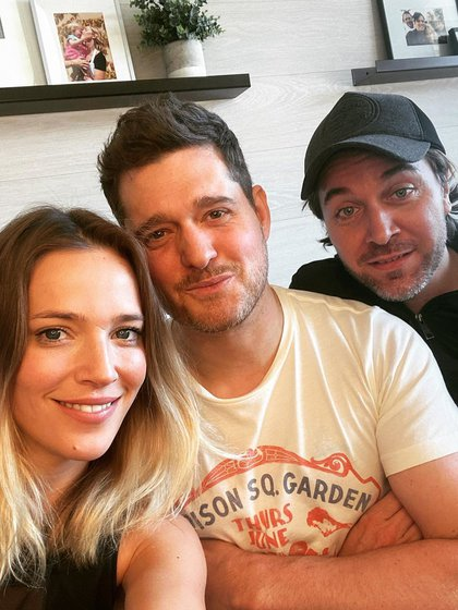 Luisana, Michael y su amigo Samu (Foto: Instagram)