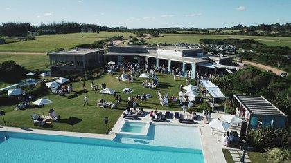 La vista aérea de Las Garzas, el emprendimiento inmobiliario de Eduardo Costantini ubicado en las costas de Rocha, donde se realiza este año la entrega de los Siri