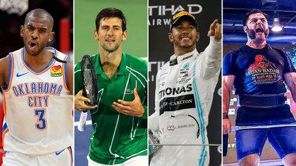 Chris Paul Novak Djokovic Lewis Hamilton y Patrik Baboumian, son algunos de los deportistas veganos