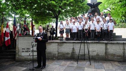 El coro de niños del colegio alemán Instituto Ballester