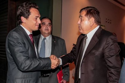 Emilio Lozoya, ex presidente de Pemex, y Alonso Ancira, dueño de Altos Hornos de México (AHMSA) FOTO: ARCHIVO JUAN PABLO ZAMORA/CUARTOSCURO
