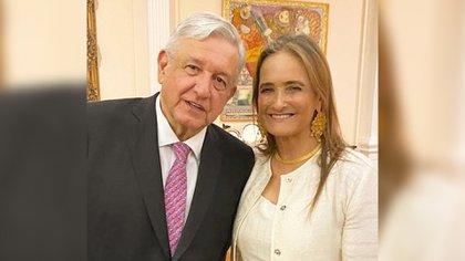 Patricia Armendáriz es una ferviente seguidora de la 4T (Foto: @PatyArmendariz/Twitter)