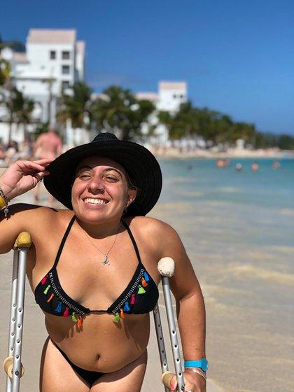 El Caribe uno de sus destinos preferidos, aunque la accesibilidad a la playa es todo un desafio