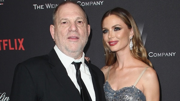 Harvey Weinstein con su esposa Georgina Chapman (Getty)