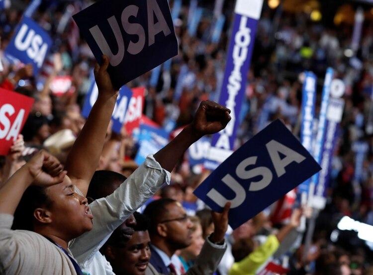 La convención de 2016, en la que Hillary Clinton fue confirmada como candidata (Reuters/archivo)