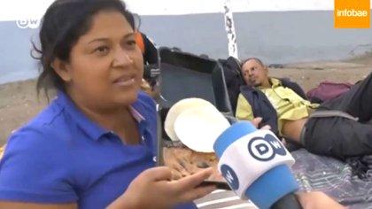 Mirian Zelaya fue parte de la Caravana Migrante en México(Foto: Gentileza DW)