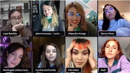 Debate sobre el aborto convocado por Kika Nieto. Foto: captura de pantalla YouTube.