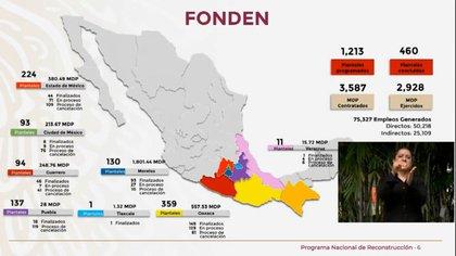 Del Fonden se han ejercido 2,928 millones de pesos (Foto: Captura de Pantalla)