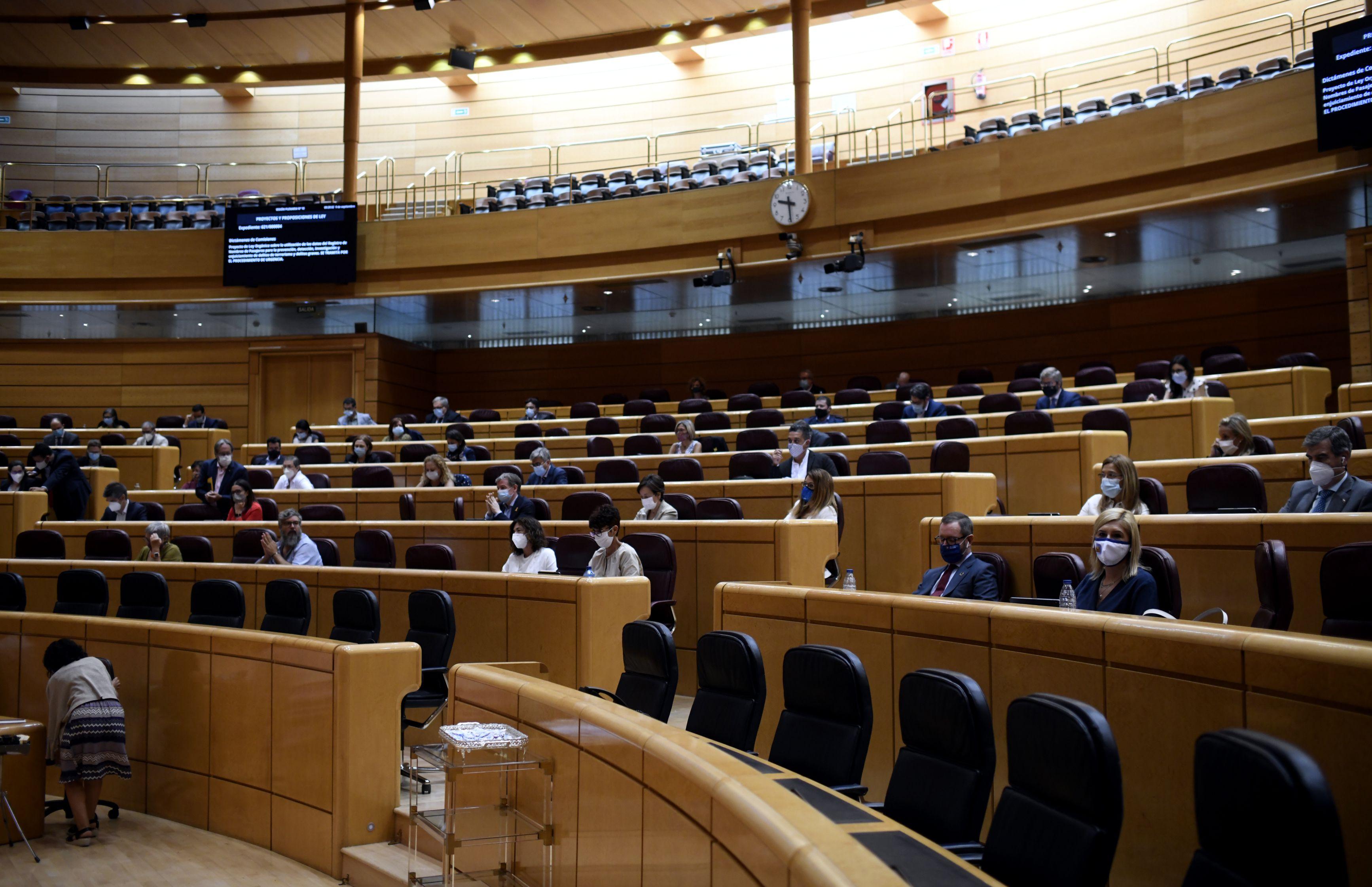 09/09/2020 Hemiciclo del Senado durante un pleno en Madrid (España), a 9 de septiembre. Esta sesión es la continuación de la del día anterior, en la que se produjo la comparecencia del presidente del Gobierno a petición propia para explicar las líneas generales de la actuación del Ejecutivo, sobre todo en la gestión de la pandemia del coronavirus y su apuesta por aprobar los presupuestos del año que viene. POLITICA  Óscar Cañas - Europa Press