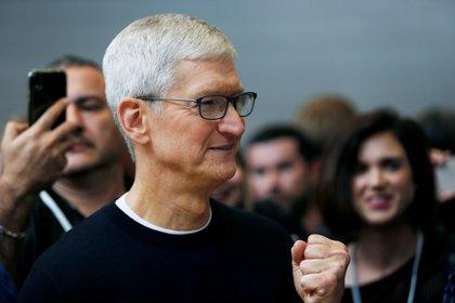 Tim Cook, CEO de Apple, durante el lanzamiento del iPhone 11 en Cupertino, Californio, el 10 de septiembre de 2019 (REUTERS/Stephen Lam)