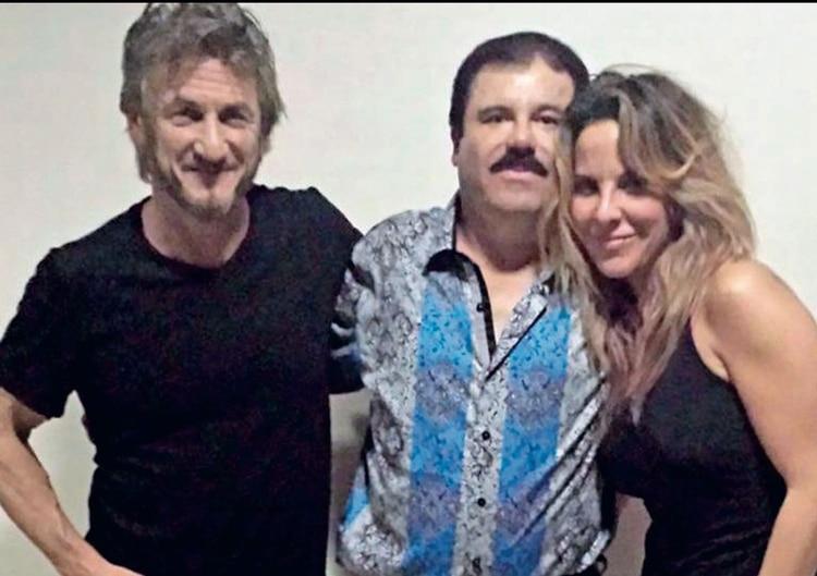 Sean Penn, El Chapo y Kate (Foto: Archivo)