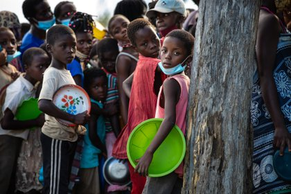 Los conflictos armados en el norte de Mozambique han desplazado a unas 670.000 personas. UNICEF / Ricardo Franco