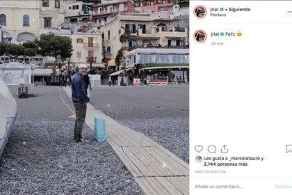 El posteo de Rial en Instagram.