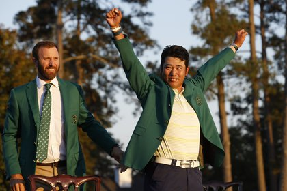 Hideki Matsuyama celebra con su chaqueta verde (Reuters)