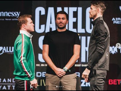 """""""This fight is a great risk to my career, but also an opportunity to make history""""said Canelo Álvarez (Photo: Instagram / canelo)"""