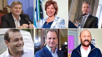 Los mandatarios Sergio Ziliotto, Arabela Carreras, Mariano Arcioni, Oscar Herrera Ahuad, Gildo Insfrán y Gustavo Bordet