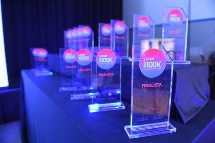 El concurso 100K Latam repartió 100.000 dólares a los 15 finalistas y premió a 3 startups de un total de 1240 proyectos (Maximiliano Luna)