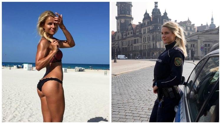 Resultado de imagen para Adrienne Koleszar, la policía más bella de Alemania