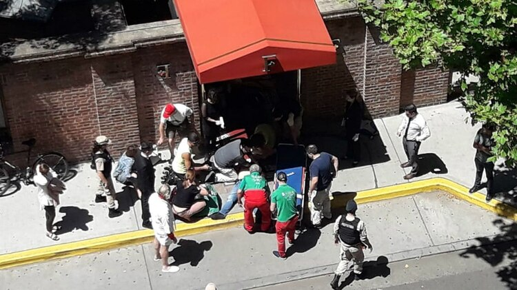 Los turistas atacados fueron atendidos por el SAME.
