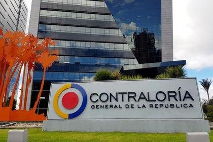 Foto de archivo. Logo de la Contraloría General de Colombia en su sede principal de Bogotá, Colombia, 19 de julio, 2019.  REUTERS/Luis Jaime Acosta