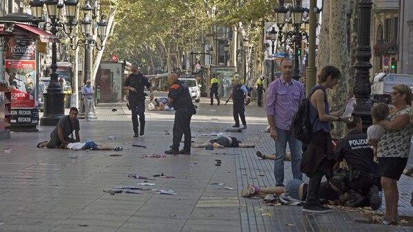 El atentado en la Rambla de Barcelona en agosto dejó 15 muertos (EFE)