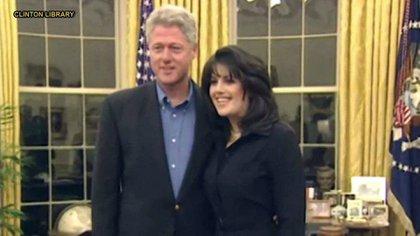 Monica Lewinsky y Bill Clinton (Foto: Captura de pantalla)
