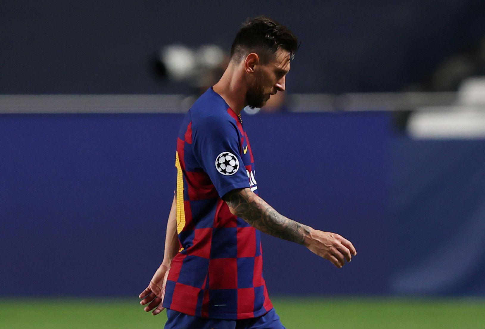 El equipo de Lionel Messi recibió una goleada histórica y fue eliminado de la Champions League (REUTERS/Rafael Marchante/Pool)
