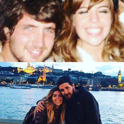 Diez años atrás eran compañeros de colegio.Hoy, son marido y mujer. Y esperan un bebé. Dalma Maradona y András Caldarelli:un amor que supera el tiempo