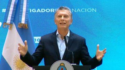El presidente Mauricio Macri criticó a los legisladores que se fueron de Cambiemos (Presidencia de la Nación)