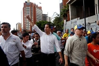 Juan Guaidó, durante la marcha del sábado en Caracas (REUTERS/Carlos Garcia Rawlins)