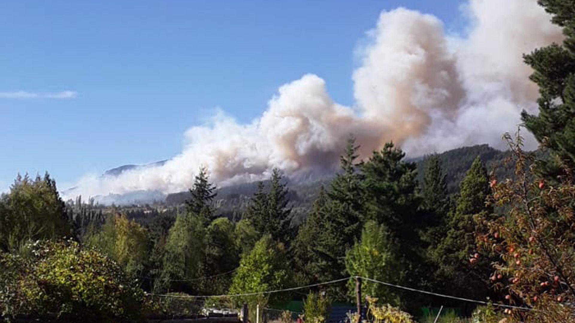 BOMBEROS DE EL HOYO incendios en el sur
