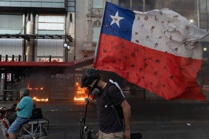 27/11/2020 Image d'archive des manifestations au Chili.  POLITIQUE MATIAS BASUALDO / ZUMA PRESS / CONTACTOPHOTO