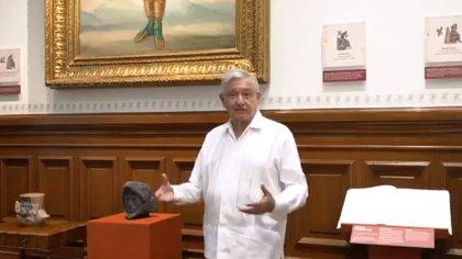El presidente Andrés Manuel López Obrador dio un mensaje este sábado en torno a los hechos ocurridos esta semana (Foto: captura de video)