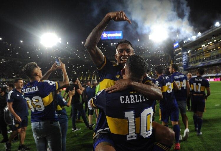 Boca celebró un nuevo campeonato (Foto: Télam)