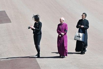 Justin Welby, arzobispo de Canterbury, en la entrada del castillo de Windsor