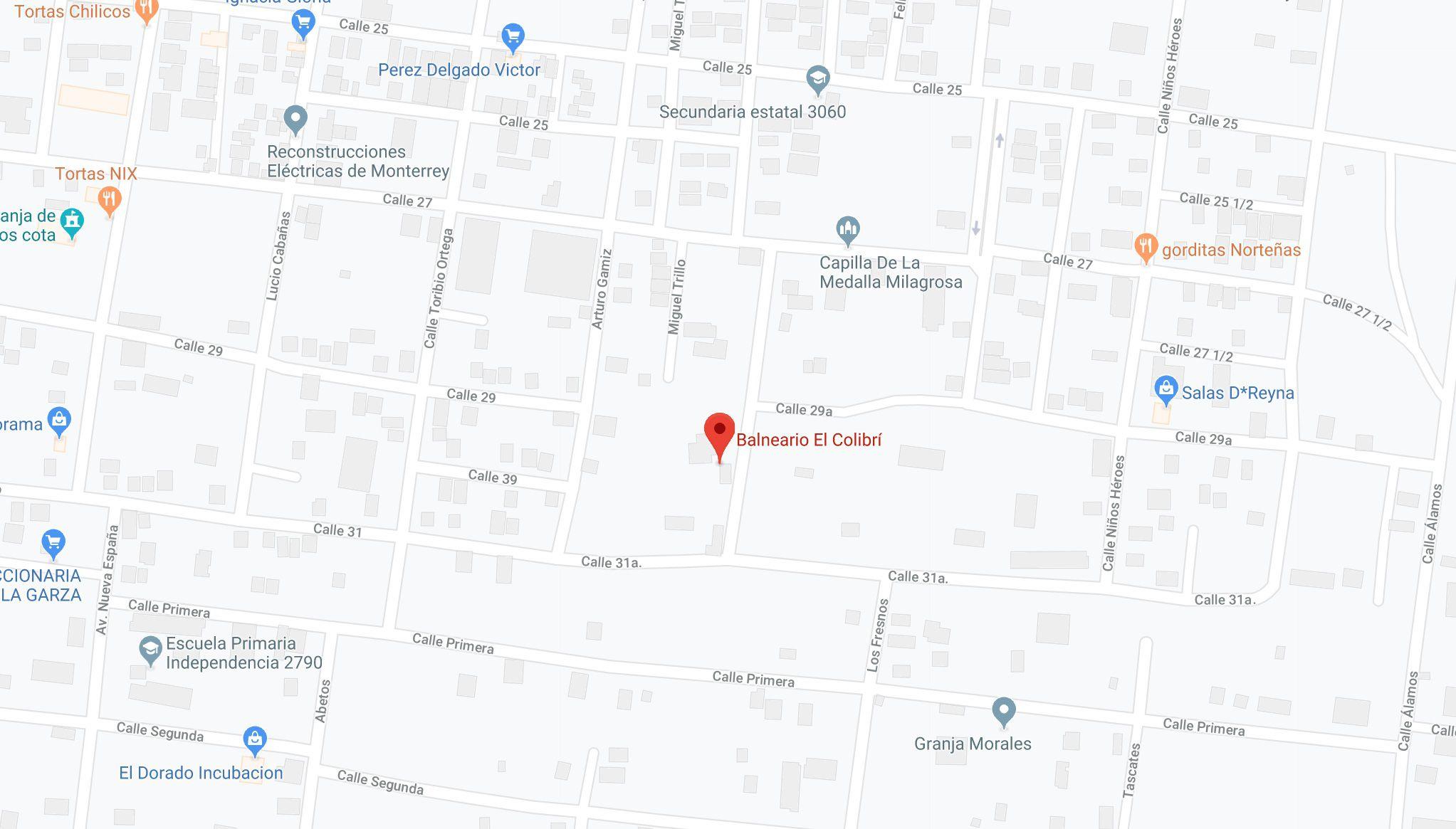"""Balneario """"El Colibrí"""" (Foto: Google Maps)"""