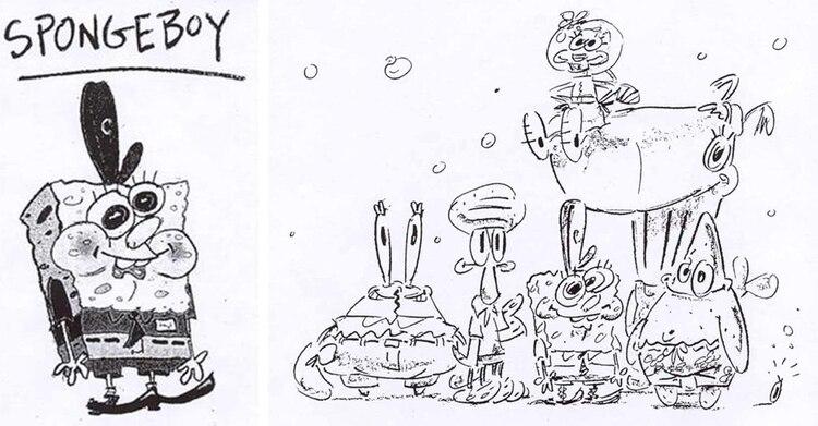 Uno de los primeros dibujos de Hillenburg para los conceptos del programa