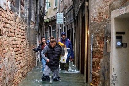 """Esta semana fue la más crítica de la temporada de """"acqua alta"""" (REUTERS/Manuel Silvestri)"""