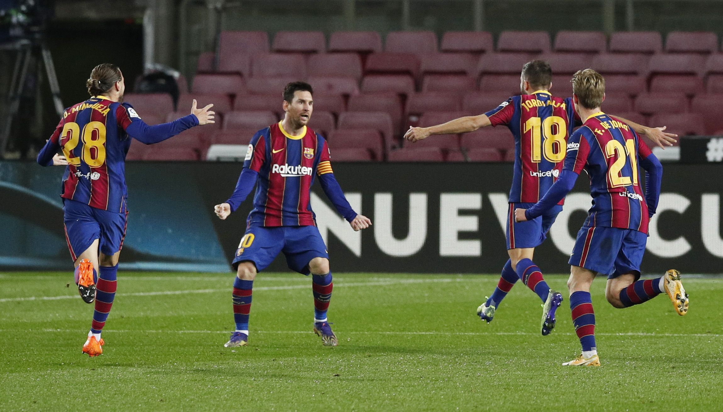 Lionel Messi volvió a entrar en la convocatoria tras cumplir las dos fechas de sanción (Reuters)