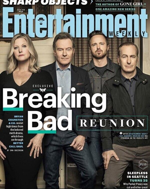 """La tapa de Entertainment Weekly, con los personajes principales de """"Breaking Bad"""""""